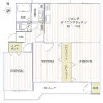 東建ニューハイツ座間1号棟403号室間取図