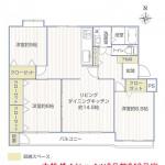 大船ダイヤハイツ2号棟243号室間取図