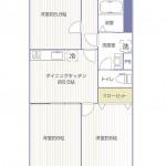 第2ライオンズマンション303号室間取図