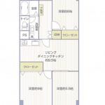 上星川団地3号棟204号室間取図