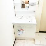 洗面化粧台、防水パン新規交換(内装)