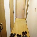 玄関フロアタイル貼り替え、大型の玄関収納設置(玄関)