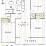 長津田団地2号棟218号室間取り図
