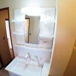 洗面化粧台は便利なシャワーヘッドタイプ(内装)