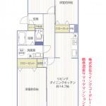 鶴巻温泉サマリヤマンション516号室間取り図