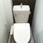 トイレ新規交換、温水洗浄便座付(内装)