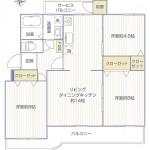 グリーンハイムいずみ野2号棟504号室間取り図