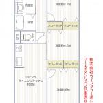 コーエイマンション久里浜外観803号室間取り図