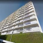 総戸数129戸の大規模マンション(外観)