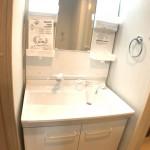 洗面化粧台新規交換、便利なシャワーヘッドタイプ(内装)