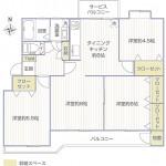宮前平グリーンハイツ49号棟401号室間取り図