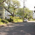前面道路は歩道があるうえ、車の通りが少ないので静かです