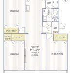 湘南長沢グリーンハイツ6-1号棟303号室間取り図