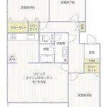 湘南長沢グリーンハイツ8-4号棟201号室間取り図