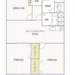 小向西KSマンション403号室間取り図