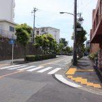 周辺の道路は、歩道や外灯も整備されています