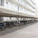 駐輪場は屋根がついているので、自転車が濡れません