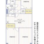 チサンマンション平塚302号室間取り図