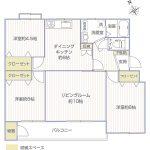 新原町田グリーンハイツC-4号棟404号室間取り図