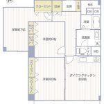 横浜東本郷マンション604号室間取り図