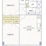 六浦荘団地B棟704号室間取り図