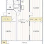 多摩川グリーンハイツ405号室間取り図