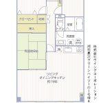 湘南長沢グリーンハイツ1-1号棟403号室間取図