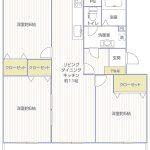 菅住宅2号棟208号室間取図