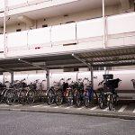 駐輪場は屋根が付いています 雨の日も安心