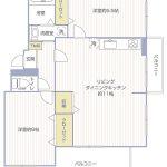鶴川6丁目団地6-8-18号棟101号室間取り図
