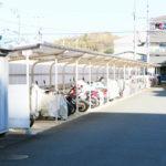 バイク置き場と駐輪場