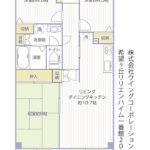 希望ヶ丘リリエンハイム一番館203号室間取り図