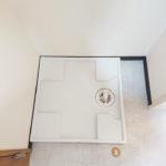 洗濯機置き場、防水パン新規交換(内装)