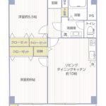 六浦荘団地C棟718号室間取り図