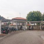 駐輪場、バイク置き場は屋根が付いています
