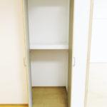 リビングにもクローゼットがついているので、お掃除用具などの収納に便利!(内装)