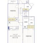 コスモ西谷214号室間取り図2
