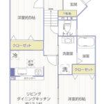 コスモ西谷214号室間取り図3jpg