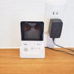 コンパクトなTVモニターホン。持ち運びも可能でお部屋のどこでも来客チェックできます。