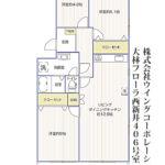 大林フローラ西新井406号室間取り図