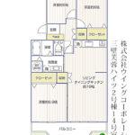 三壁芙蓉ハイツ2号棟14号室間取り図