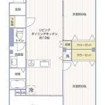 ファミリーコーポ市ヶ尾205号室間取り図