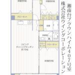 湘南台ブラウンハイム407号室間取り図