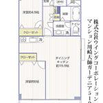 マンション川崎大師ガーデニア519号室間取り図