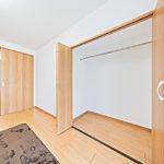 三ツ境グリーンハイム2号棟207号室南側6帖の洋室(続き間)のクローゼット