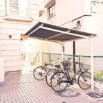 屋根付きの共有駐輪場