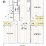 湘南長沢グリーンハイツ5-3号棟406号室間取り図