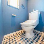 トイレ新規交換、保温洗浄便座新規取付 水まわりにも窓があり通気性も良好(内装)