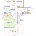 ダイアパレスグランデージ大倉山弐番館301号室間取り図3