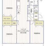 湘南長沢グリーンハイツ6-4号棟103号室間取り図
